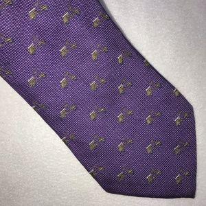 Tumi Purple Scooter Silk Necktie